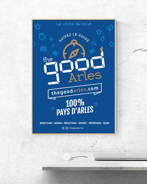 affiche graphiste alpilles camargue the good arles