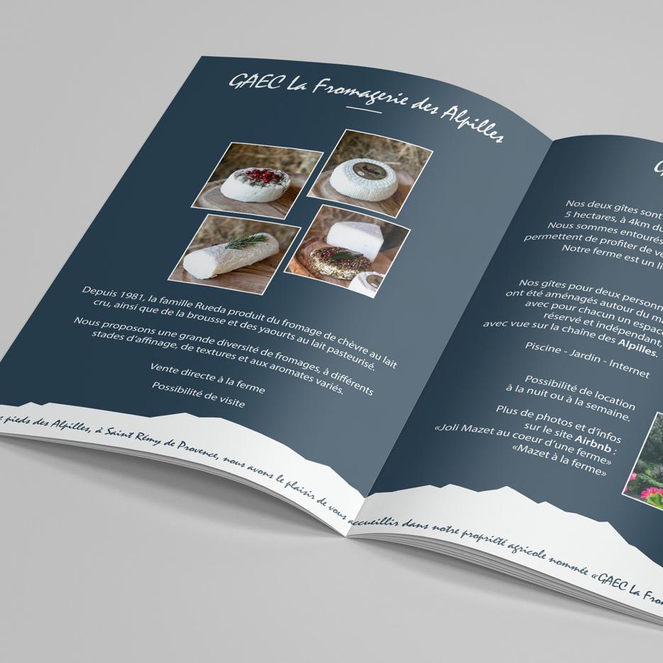 flyer graphiste alpilles camargue la fromagerie des alpilles