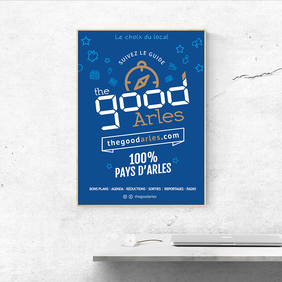 poster graphiste alpilles pyaf créations the good arles